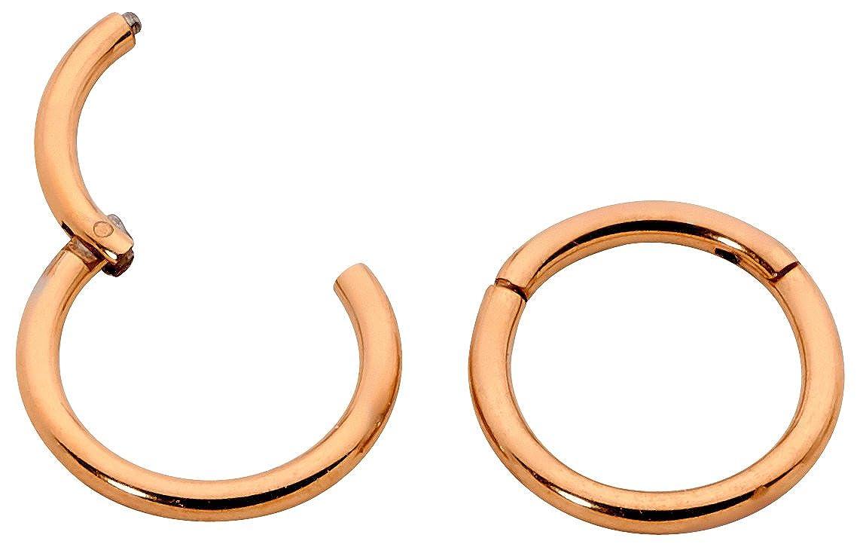 365 Sleepers 1 Pair Titanium 18G Hinged Segment Ring Hoop Sleeper Earrings Body Piercing 5mm//6mm//7mm//8mm//9mm//10mm//11mm//12mm//13mm Thin