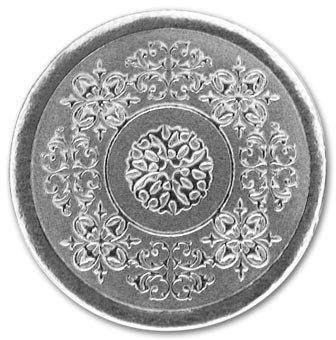 EGPChecks EGP Round Medallion Seal, 100 Count, 1 Inch, Silver,