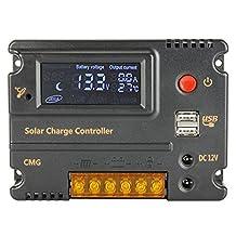 Sun YOBA 20A 12V 24V Solar Charge Controller Solar Controller with USB Port