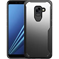 Galaxy A8 2018 Case, WindCase Slim Anti-Scratch Fexible TPU Frame with Transparent PC Back Case Cover for Samsung Galaxy A8 2018 Black