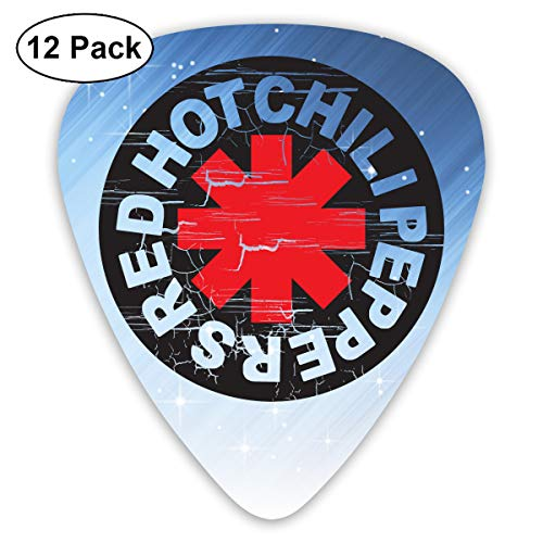 Grace Little Red Hot Chili Peppers Stylish Celluloid Guitar Picks Plectrums for Guitar Bass 12 Pack ()