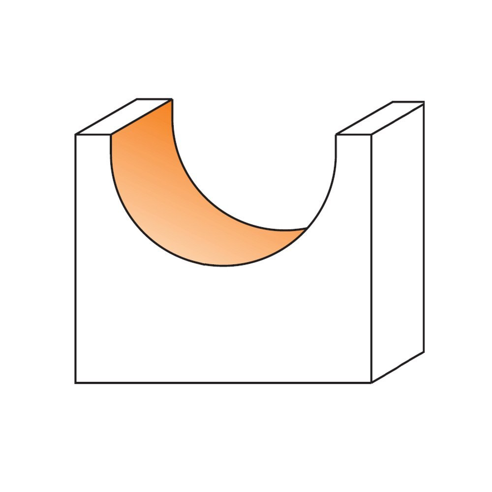 5//8-Inch Radius CMT 814.754.11 Round Nose Bit 1//2-Inch Shank Carbide-Tipped