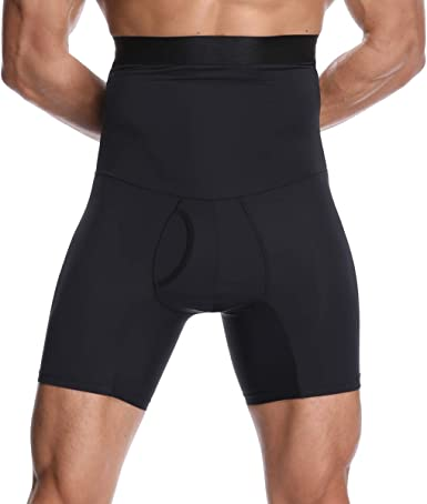 iYunyi Mens High Waist Slimming Body Shaper Tummy Control Shapewear Waist Abdomen Trimming Boxer Brief