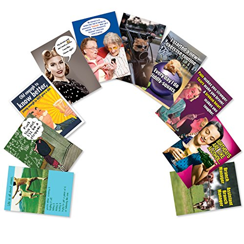 y - Our #1 Boxed Assortment Pack of 10 Funny Bestselling Humor Birthday Glossy Greeting Cards with Envelopes (1 Folded Card per Design) AC5979BDG-B1x10 ()