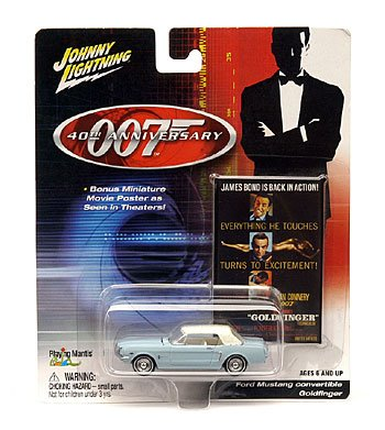 Johnny Lightning James Bond 40th Anniversary die-cast FORD MUSTANG CONVERTIBLE - GOLDFINGER ()
