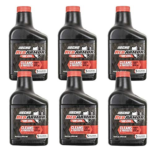 Echo 6550005 Red Armor 2 Cycle Oil 5 Gallon Mix 50:1 12.8 6 PK by Echo