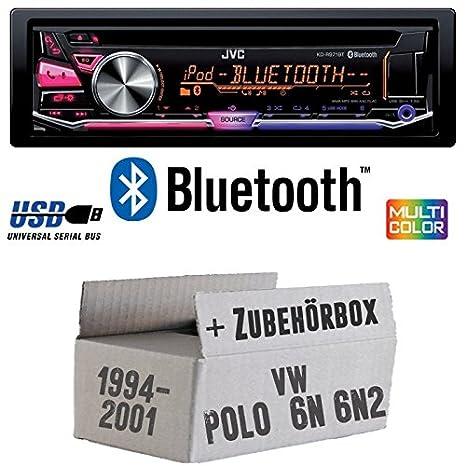 VW Polo 6N + 6N2 - JVC KD-R971BT - Bluetooth CD/MP3/USB MultiColor ...