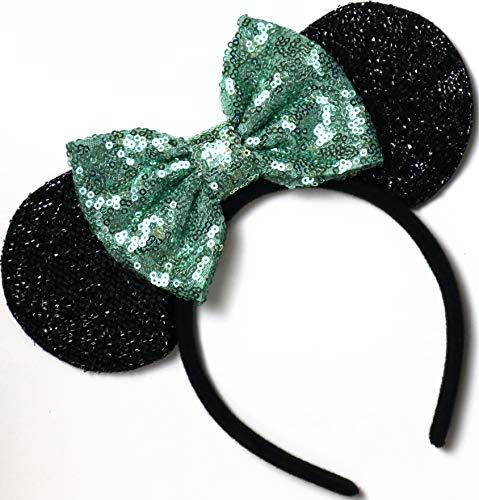 CLGIFT Tiana Mickey Ears, Mint Minnie Ears, Mint Green Mickey Ears, Mint Green Minnie Ears,Unique Minnie -