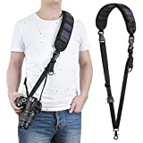 waka DSLR Camera Neck Shoulder Strap with Quick Release and Safety Tether Comfortable for Canon Nikon Sony (Striped Design)