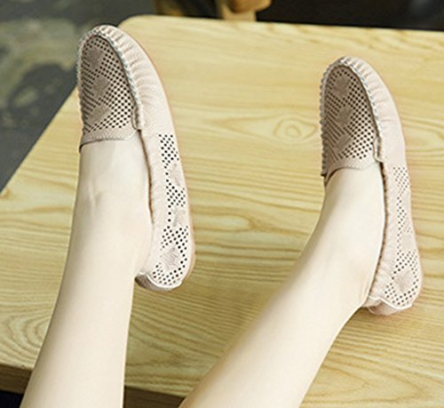 Mocassins Chaussures Coutures Abricot Aisun Plates Simple Femme w6W0B