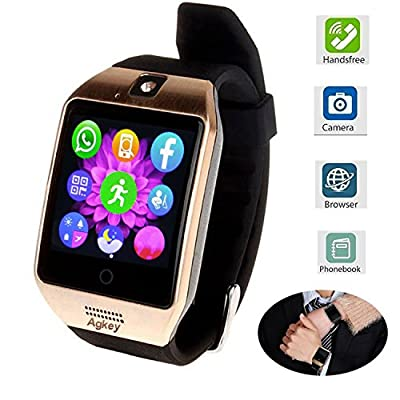 Smart Watch Touch Screen All-in-1 Bluetooth Smartwatch WristWatch Unlocked Watch Phone with Camera Handsfree Call for Samsung S8 Plus S7 Edge S6 S5 J7 LG Huawei Motorola Android Phones Men Women Boys