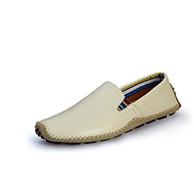 Men's Slip On Fashion Sneakers Handmade Leather Soft Flats Loafers Footwear