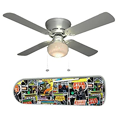 """Star Wars Comic Books 42"""" Ceiling Fan and Lamp"""