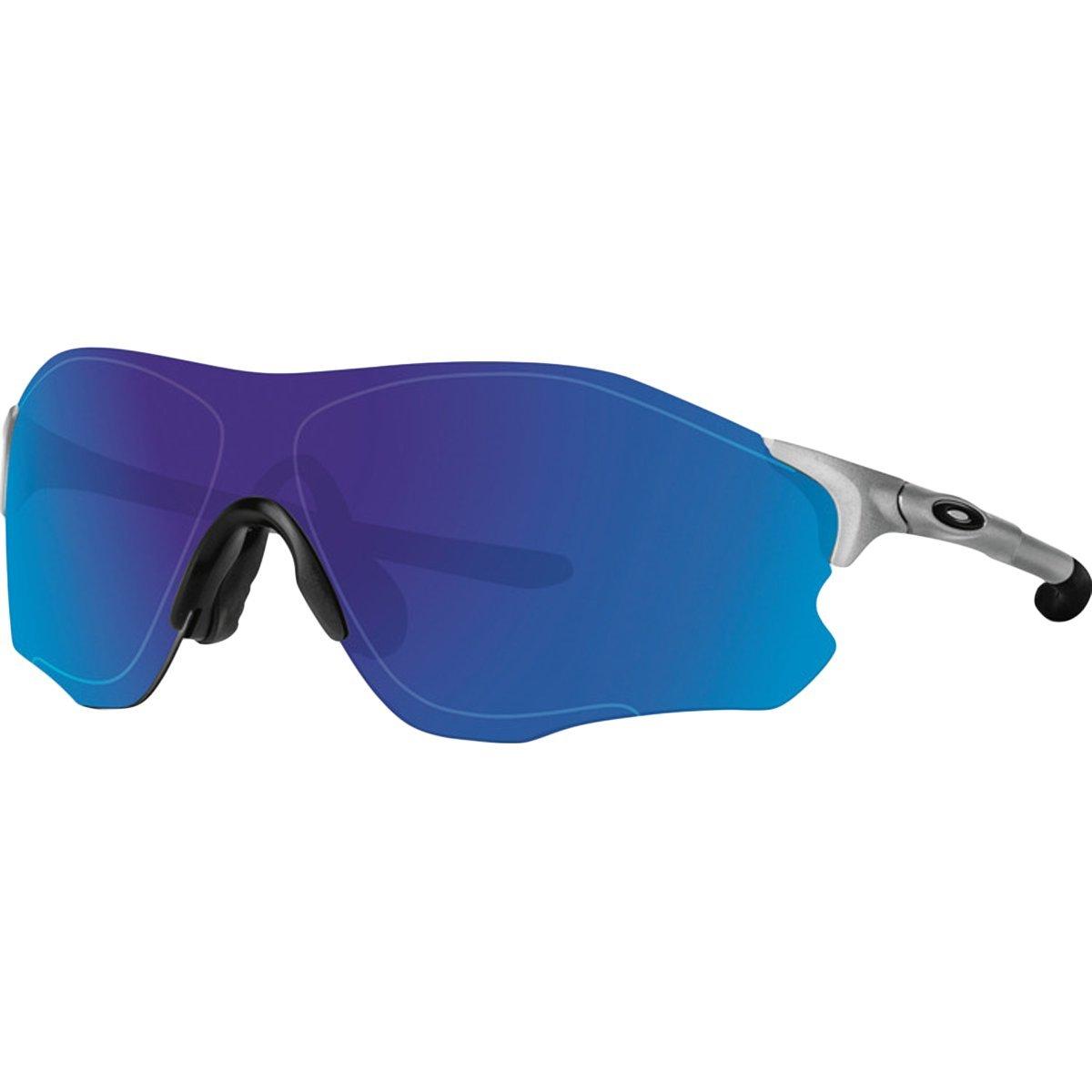 Oakley Men's Evzero Path Non-Polarized Iridium Rectangular Sunglasses, Silver, 38 mm