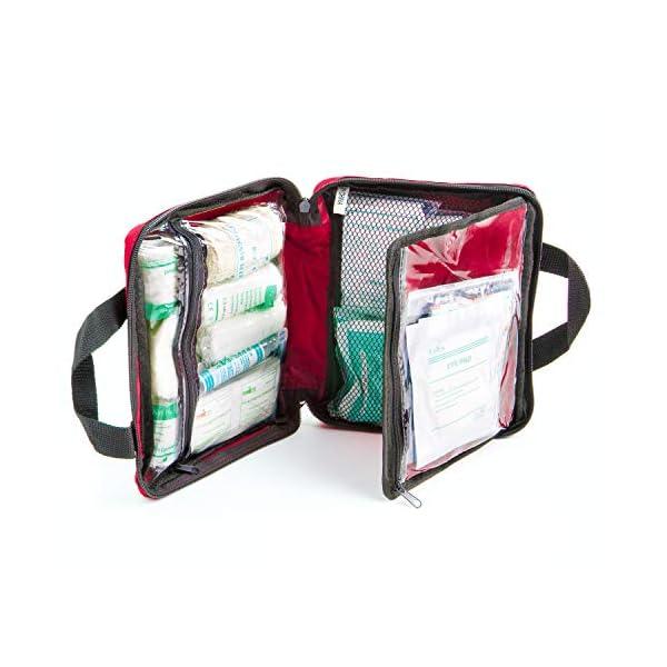 51 JZAvjYfL Erste Hilfe Set - 90-teiliges Premium Erste-Hilfe-Set - enthält Sofort Kühlpacks, Augenspülung, Rettungsdecke für zu…