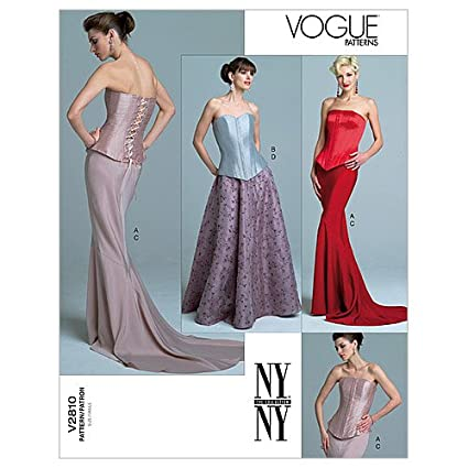 eef4180c59 Image Unavailable. Image not available for. Color: Vogue Patterns V2810  Misses' Top ...