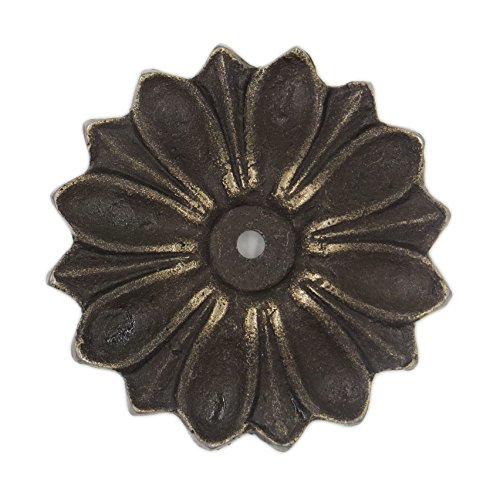 Antique Solid Metal Flower Shaped Decorative Back Plate for Knobs, Pulls - Pack of -