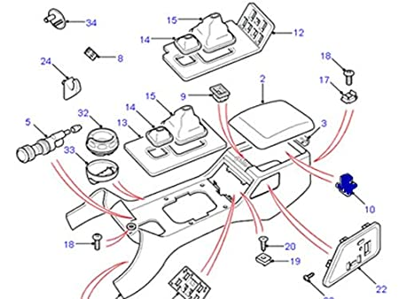 Amazon Com Land Rover Genuine Center Console Stowage Lid Striker