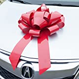 Red Car Bow, HUGE Magnetic Bows, Premium Gift Wrap for your Automobile or Appliance (22 Inch, Red)