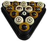 Wave 7 Technologies Mizzou Billiard Ball Set - NUMBERED
