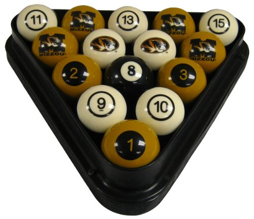 Wave 7 Technologies Mizzou Billiard Ball Set - NUMBERED by Wave 7 Technologies Corp