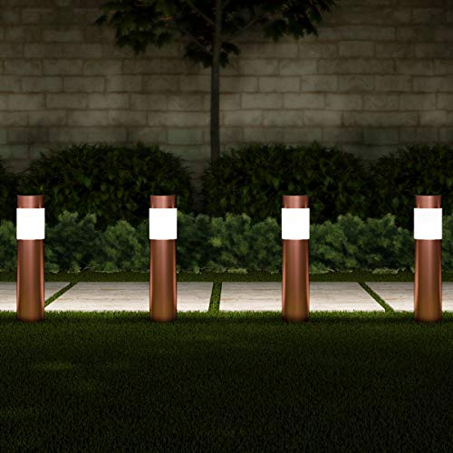 Copper Bollard Garden Lights