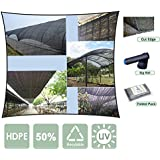 Agfabric Sunblock Shade Cloth 50% UV 6.5x20ft Black -Cut Edge with Free Clips for Plant Cover Greenhouse,Barn,Kennel, Pool, Pergola or Carport