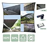 Agfabric 50% 12x20ft Sunblock Shade Cloth for Plant Cover, Greenhouse, Barn or Kennel, Pool, Pergola or Carport, Cut Edge UV Resistant Fabric with Free Fabric Clips