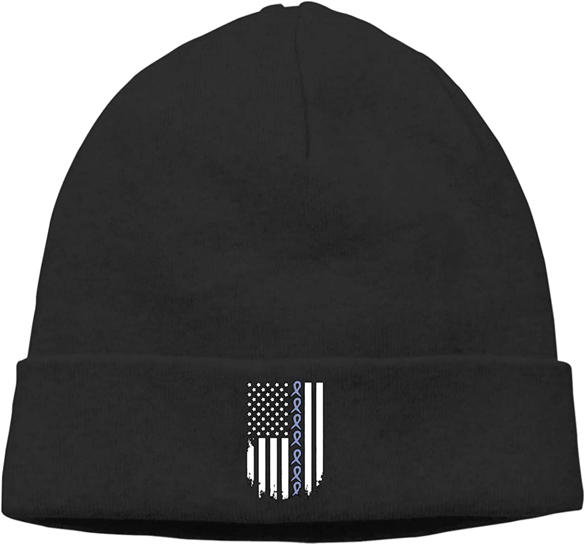 Thin Esophageal Cance American Flag Men Womens Solid Color Beanie Hat Stretchy /& Soft Winter Cap