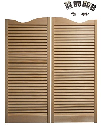 Cafe Doors Premade: Made From Sturdy Pine Wood-Cafe Doors Hinges Included (36