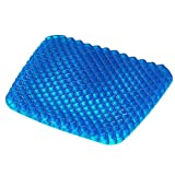 Turquoize Gel Seat Cushion Pain Relief Gel Pad Seat Cushion Honeycomb Design Pressure Absorbs Sitter Elastic Support Chair Pad Office, Dinner, Driving, Wheelchair & Mobility Scooter Cushions