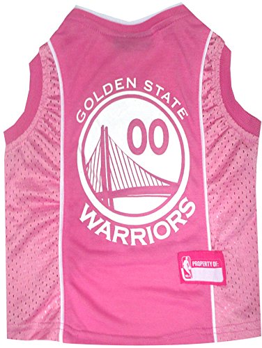 State War Patch (NBA Golden State Warriors Basketball Pink Pet Jersey, Large)