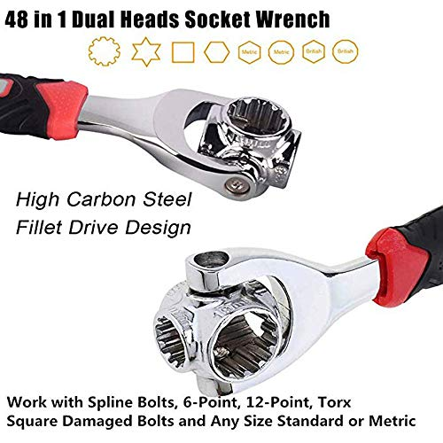 Amazon.com: Multi-Function Socket Wrench, 48 Tools In One ...
