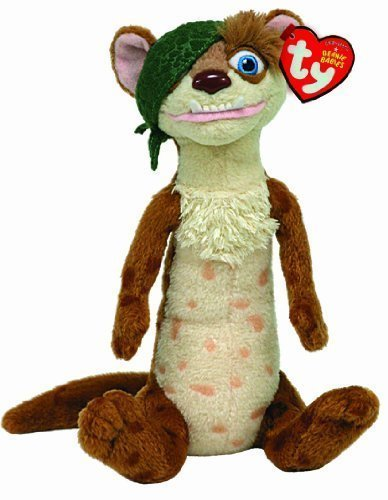Ty Ice Age Beanie Babies Buck the Weasel by Ty by Ty