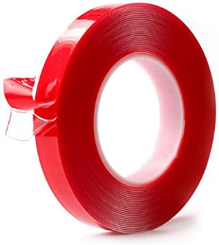 5mm DOUBLE SIDED TAPE ROLLS,25 METRES LONG IN PACKS OF THREE.