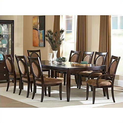 """Steve Silver Company Montblanc Table with Two 18"""" Leaves,..."""