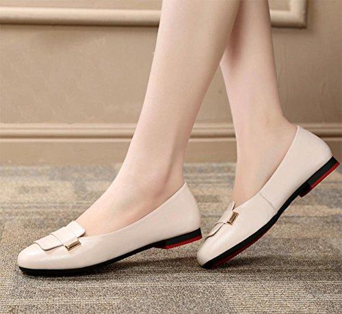 inferiores de los las planos de suaves redondos zapatos los las de elevador zapatos escogen los zapatos baja boca primavera de zapatos del de zapatos guisantes la de Sra la Beige señoras los mujeres PaUzcwqgx