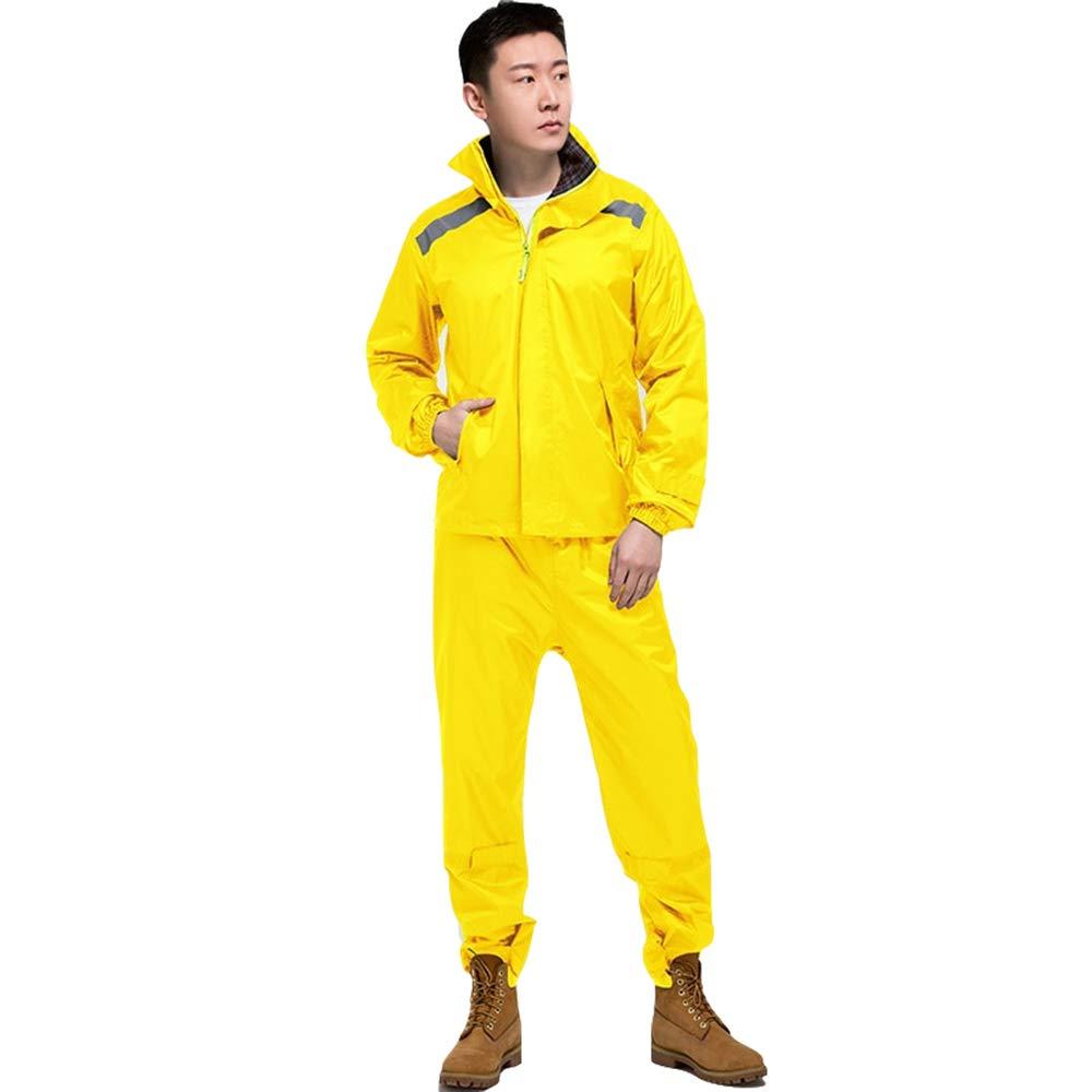 jaune S GONGYU Un imperméable imperméable Costume de Costume, Hommes et Femmes Costume extérieur imperméable équitation diviser imperméable Corps imperméable