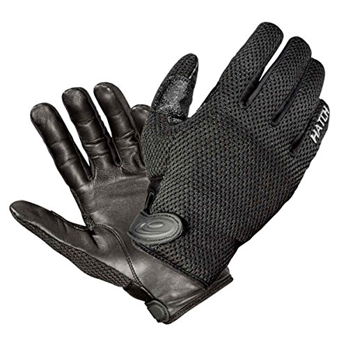 Hatch Gloves, Duty Patrolman CoolTac Police Duty Gloves, Black, Large