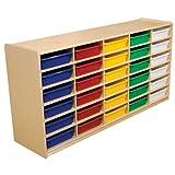 Wood Designs WD17563 (30) 3'' Letter Tray Storage Unit w/Assorted Trays