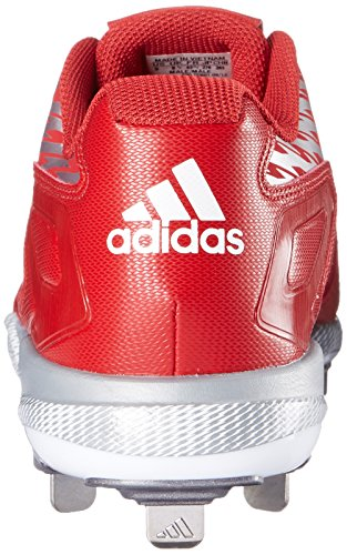 Adidas Performance Mænds Poweralley 3 Baseball Sko Magt Rød / Hvid / Grå Metallic 7BNKvF