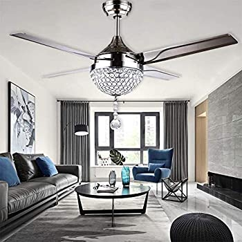 Tipton Light Ceiling Fans 42 Inch 4 Retractable Blades Led