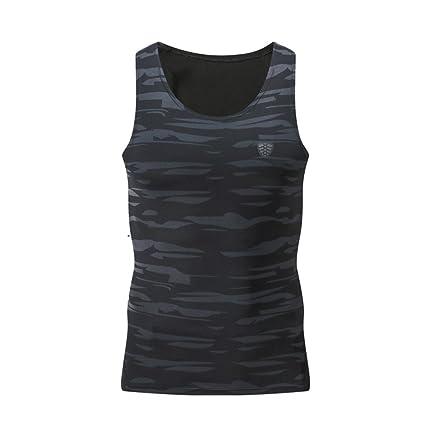LILICAT® Camisetas Deportivas Hombre de Manga Larga/sin Mangas, Blusa Tops de Compresión
