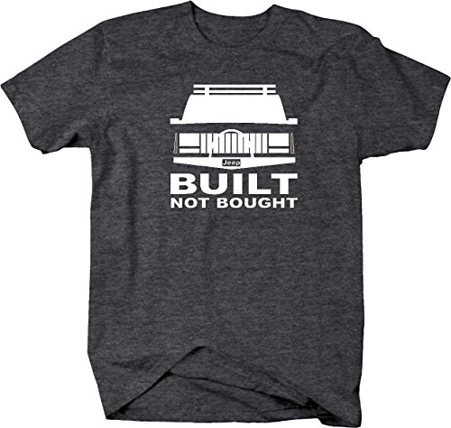 All American Built Not Bought Jeep Cherokee XJ Lifted Offroad 4x4 Mens T Shirt - Large, Graphite ()