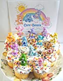 Care Bears Cupcake Topper Birthday Party Decorations Set of 12 Figures with Share Bear, Wonderheart Bear, Grumpy Bear, Wish Bear and Many More!