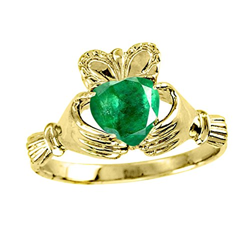 Claddagh Ring Claddah Love, Loyalty & Friendship Ring 14K Yellow Gold or 14K White Gold by Rylos (Image #1)