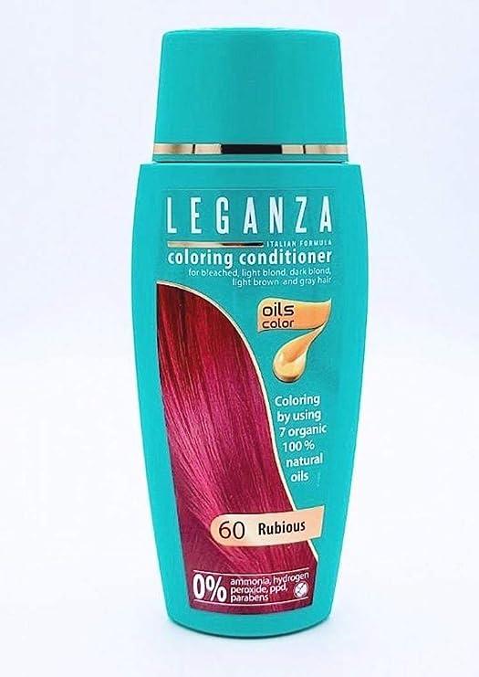 Pack Ahorro de 2 x Tintes Bálsamo para cabello sin ammoniaque color rojo rubi 60, 7 aceites naturales