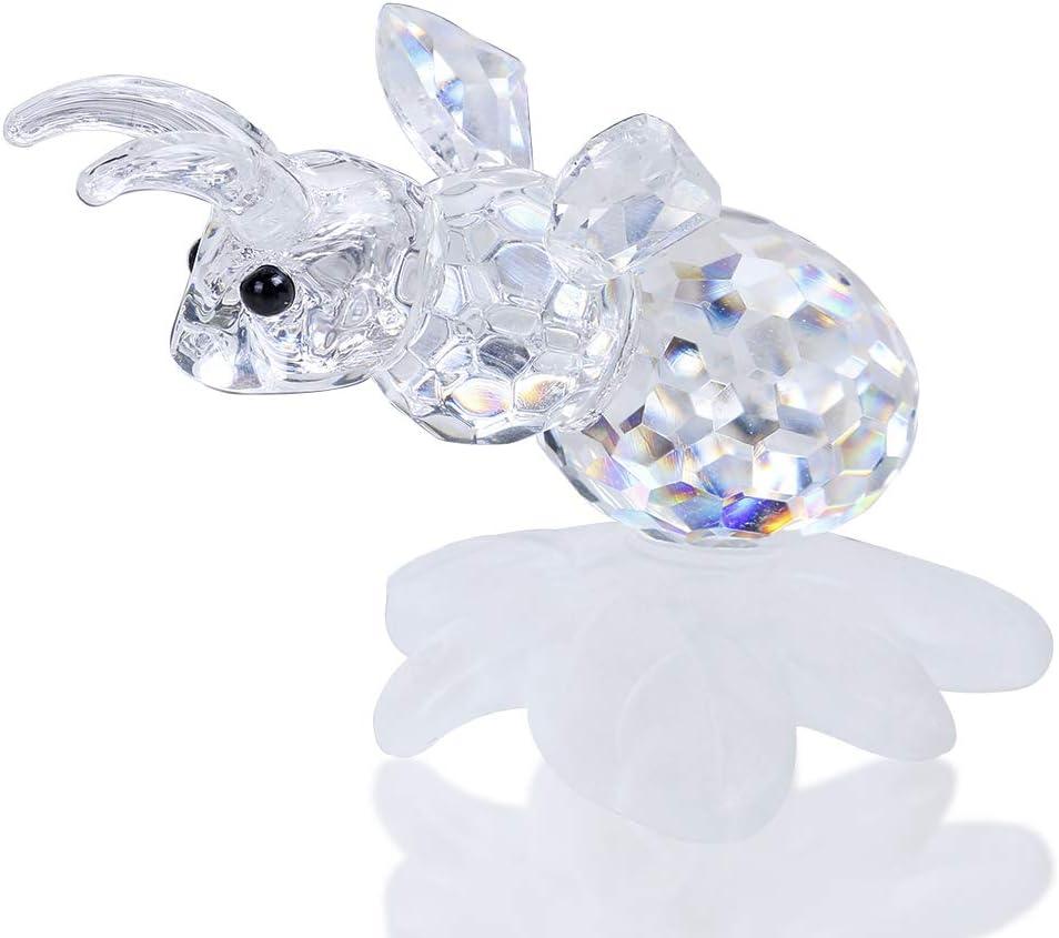 Crystal Style FROSCH hochwertige geschliffene Kristall Figur für Sammler