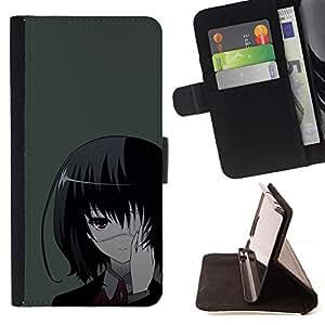 Momo Phone Case / Flip Funda de Cuero Case Cover - Una Eyed Girl japonés;;;;;;;; - Samsung Galaxy J3 GSM-J300
