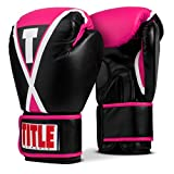 Title Boxing Classic X-Press Boxing Gloves, Black/Pink, Large